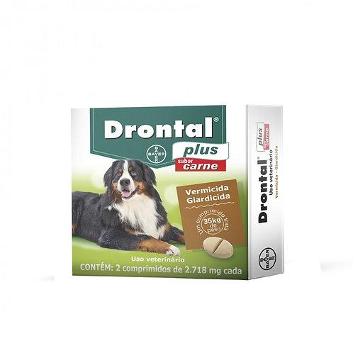 Drontal Plus 35kg Sabor Carne 2 Comp - Bayer