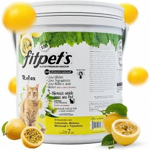 Ração Fitpets Gatos Super Premium Natural Maracujá 7 Kg
