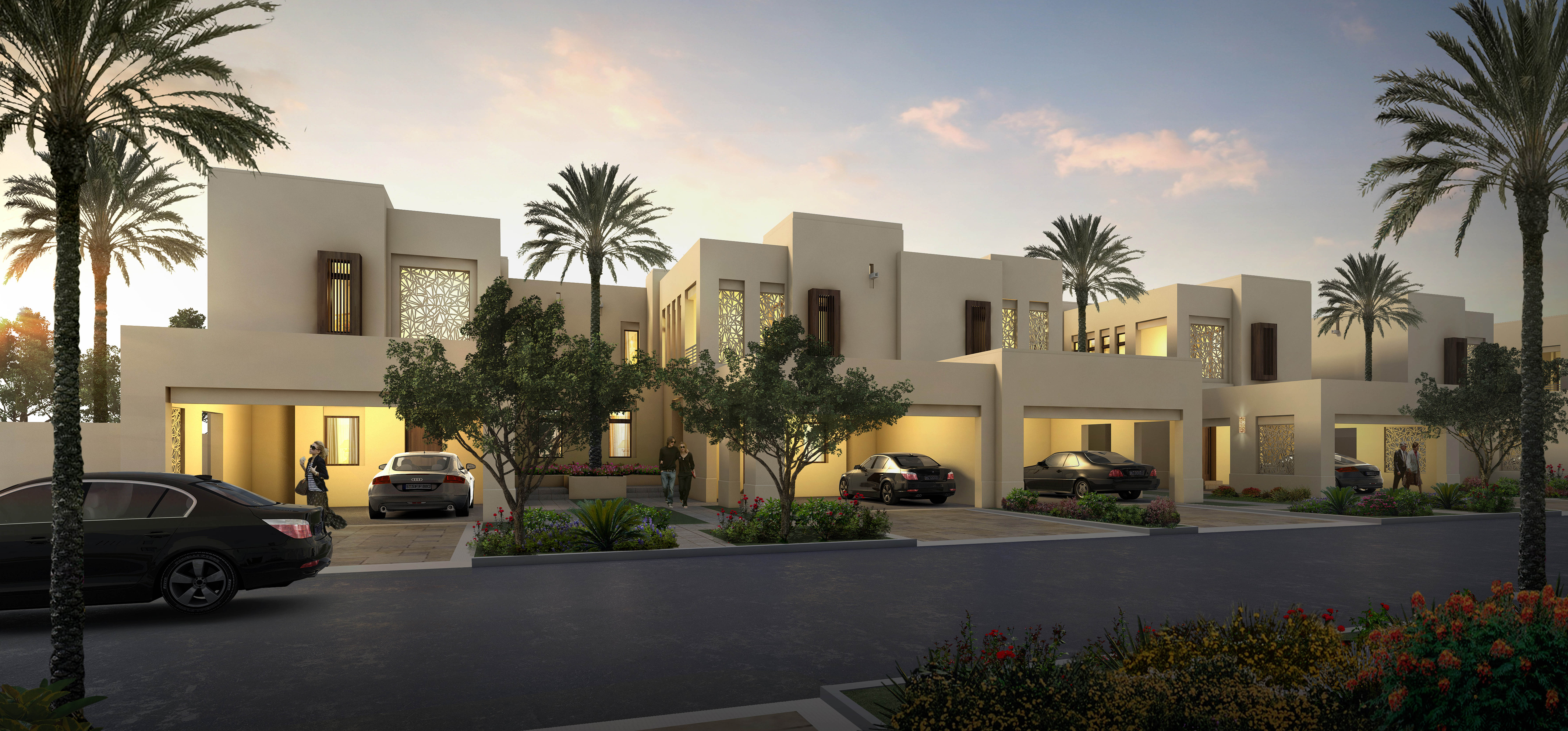 Reem Phase 2_Contemporary Rowhome street
