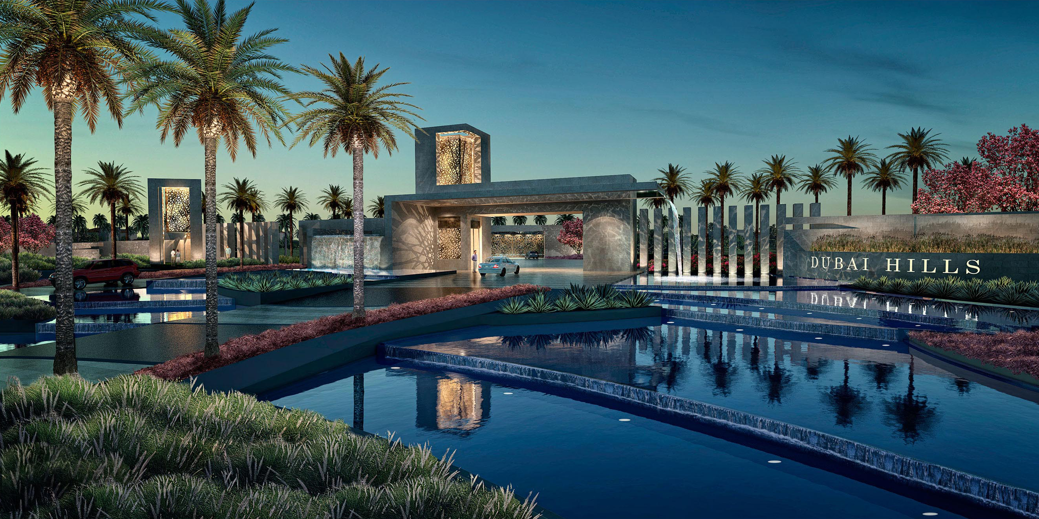 Dubai hills Entry Statement Rendering