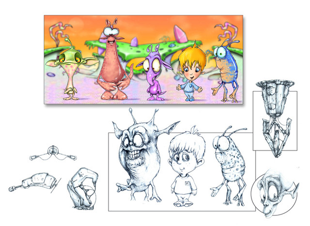 """Concept art for """"Fred's Bed"""" TV series.."""