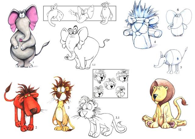 "Concept art for ""Shoebox Zoo"" TV series."