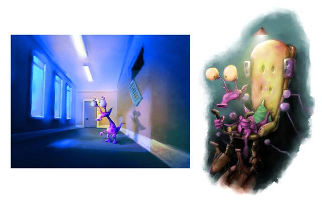Concept art for Stoobie Cooper CGI TV sh