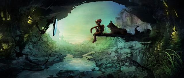 """""""Hiding"""" key art for CGI TV show"""