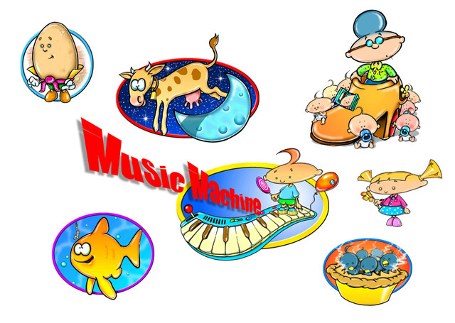 "Concept art for ""Music Machine"" TV show."