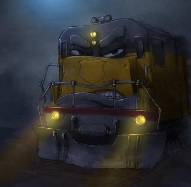 Concept art for Train Transformers TV sh