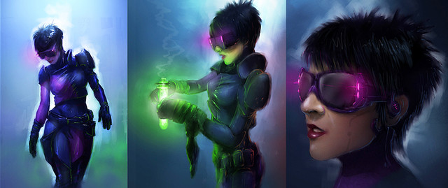 Spy Girl character concept for TV show..