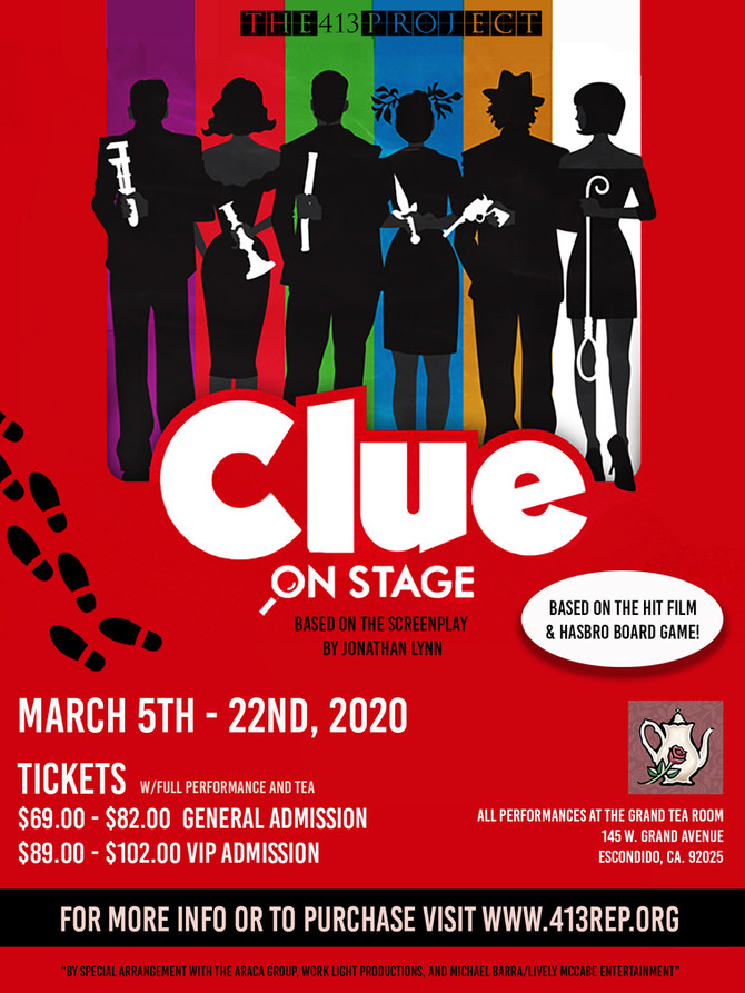 Clue Onstage Coming this Spring!