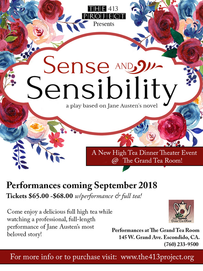 Sense and Sensibility Dinner Theater Comes to the Grand Tea Room!
