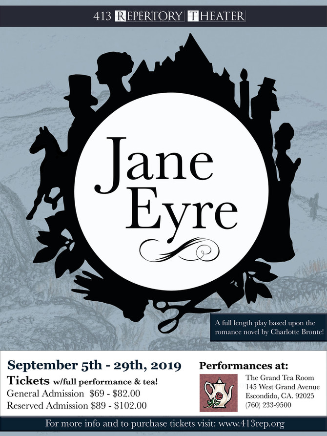 """Jane Eyre"" coming to the Tea Room this Fall!"