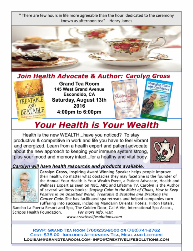 Carolyn Gross Booksigning & Afternoon Tea