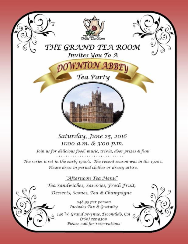 Tea Room to host Downton Abbey Party!