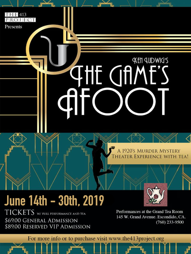 The Game's Afoot Returns to the Tea Room!