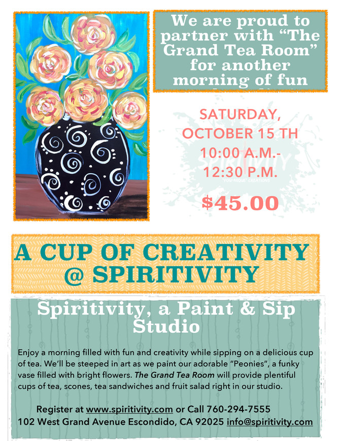 "The Tea Room is offering some ""Spiritivity!"""
