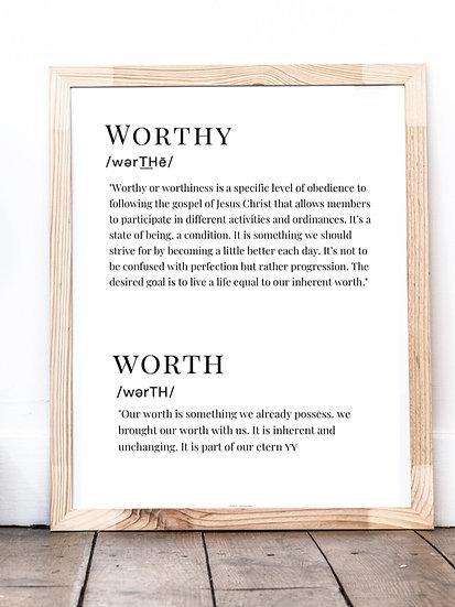 Worthy Worth Printable