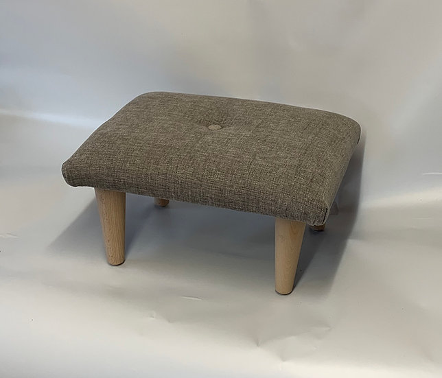 Rouen Thunder Chenille Footstool - Small Stool- Foot Rest