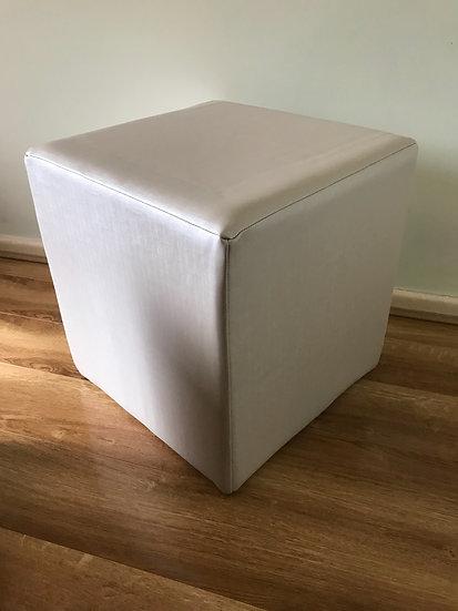 Bespoke Cube Footstool - Warwick Fabrics Silkor Range - Dressing Stool