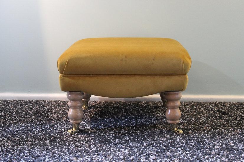 Shafsbury Turmeric Footstool - Flat Top Pouffe