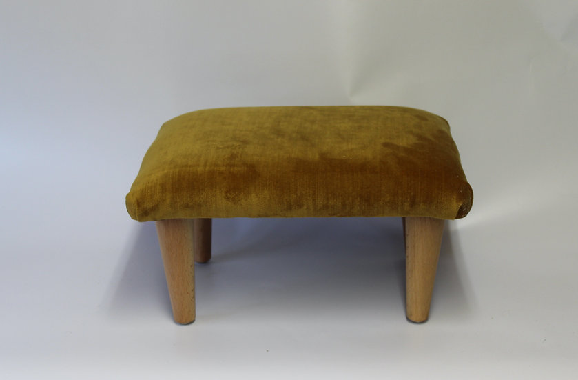 Liaison Old Gold Footstool - Small Stool- Foot Rest