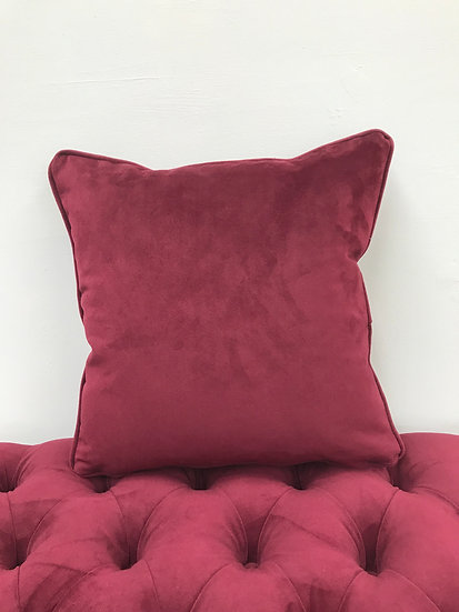 Plush Velvet Scatter Cushion - Warwick Fabrics Plush Velvet - Burgundy