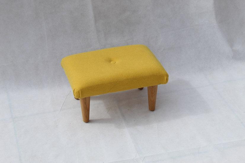 Amatheon Sunshine Small Footstool - Wool Fabric