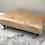 Thumbnail: Large Flat Topped Parchment Footstool - Mystic Velvet Stool