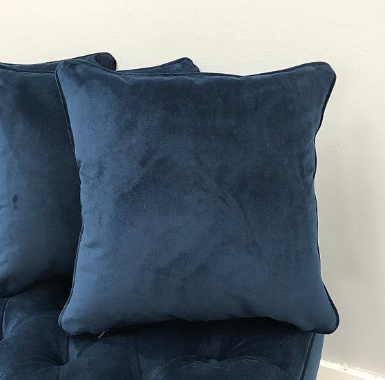 Plush Velvet Scatter Cushion - Warwick Fabrics Plush Velvet -Indigo