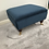 Thumbnail: Mini Flat Top footstool Footstool -  Plush Velvet Teal Ottoman