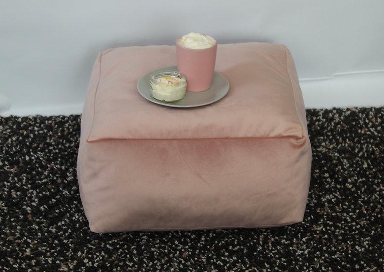 Blush Pink Floor Cushion - Velvet Square Cushion - Bean Bag Seat