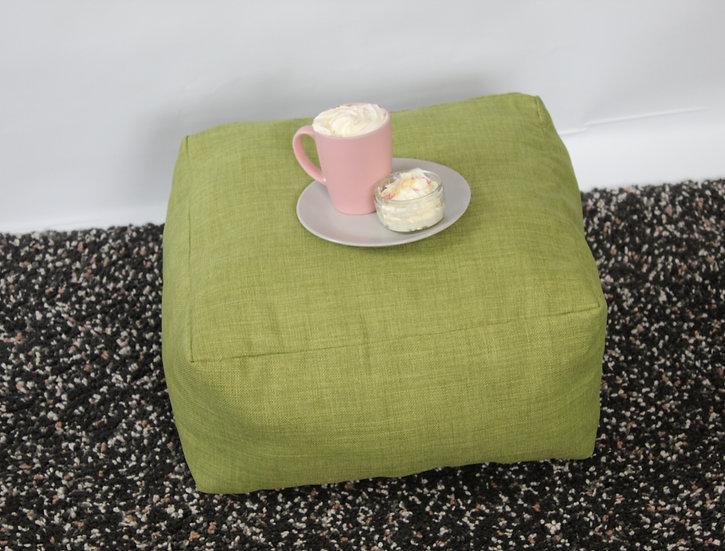 Colorado Green  Basket Weave Floor Cushion - Square Cushion - Bean Bag Se