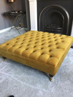 Daffodil Footstool Warwick Fabric P
