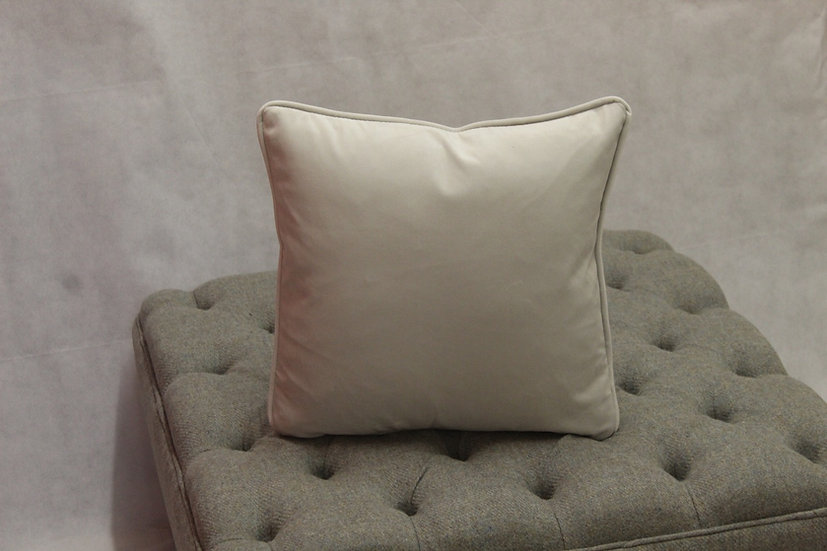 Silver Plush Velvet Scatter Cushion - Available to match your furniture