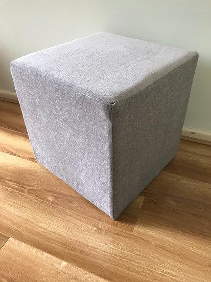 Bespoke Cube Footstool - Warwick Fabrics Rouen Range - Dressing Stool