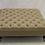 Thumbnail: Deep Buttoned Linen Oatmeal  Fabric Footstool - Chesterfield Ottoman