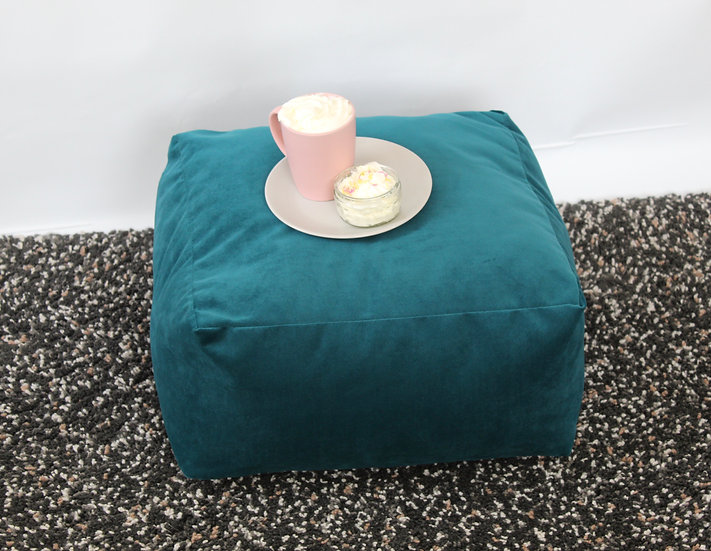 Plush Velvet Mallard Floor Cushion - Velvet Square Cushion - Bean Bag Seat
