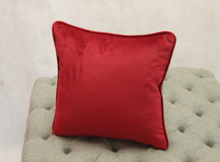 Red Plush Velvet Scatter Cushion - Available to match your furniture