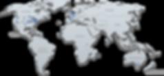 Lab Collaborator Map_SEP2018_blue stars.