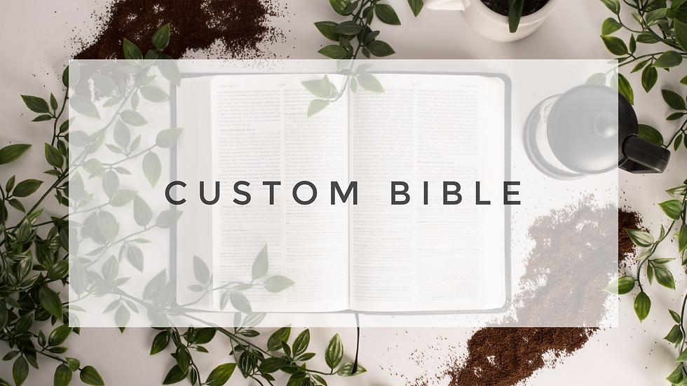Custom Painted Bible