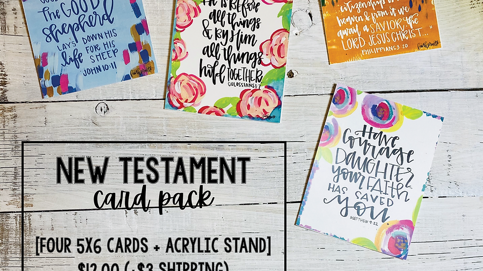 New Testament Card Pack
