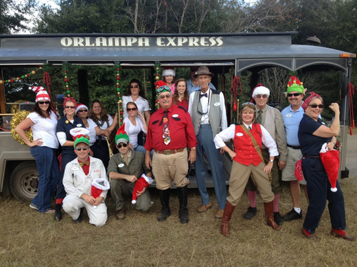 Outstanding crew at Fantasy of Flight -- Christmas Parade