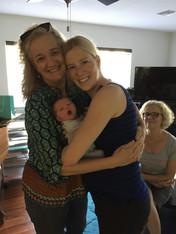 Hugging Gatsy & Lizzie with Sig