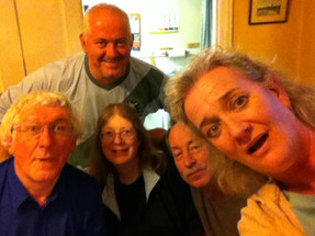 David, Jon, Hazel, Andy, me at Reading Christmas