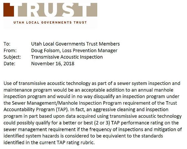 Utah Trust - Including Transmissive Acou