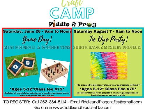 Craft Camp:  Game Day!