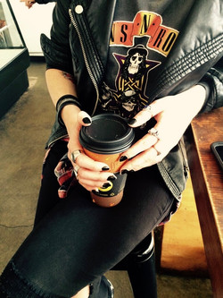 Coordinating colours with pre-session coffee