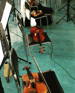 A string break in between sessions with Bulgarian Orchestra
