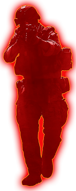 paintball red guy glow