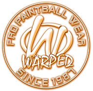 warped pro paintball wear round logo ora