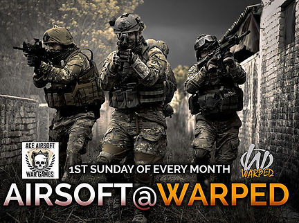 Monthly airsoft days at Warped