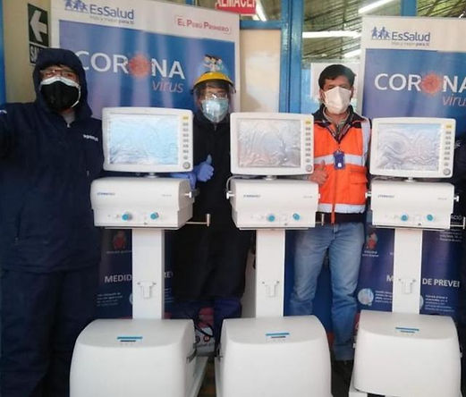 Entregan 3 ventiladores mecánicos para el control de pacientes con COVID-19 en Puno